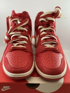 2021 Nike Dunk High SE First Use University Red Men's Size 9.5 (DH0960-600)