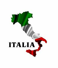 2-SET - Italian Italy Car Motorcycle Racing flames stickers decals wrap