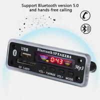 Wireless Bluetooth 5.0 Car Decoder Board MP3 Player FM Radio Audio Module SD TF