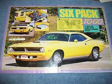 "1970 Plymouth 'Cuda 440 Six-Pack Vintage Article ""Six Pack To Go"""