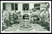 Washington D.C. Pan American Union Building Patio and Courtyard Postcard wdc14