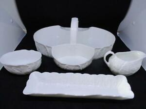 x4 PIECE WHITE WEDGWOOD COUNTRYWARE SERVING SET