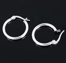 Stainless Steel Women Sleek Surgical Grade Hypoallergenic 19mm Hoop Earrings
