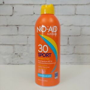 NO-AD SPF 30 Sport Continuous Spray Sunscreen 8.7 oz  EXP 02/22 SHIPPED IN 24HRS