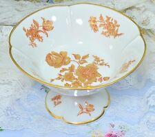 """Castel Limoges France Gold Floral Compote 8.5"""""""
