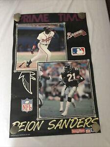 Vintage DEION SANDERS 1992 STARLINE POSTER