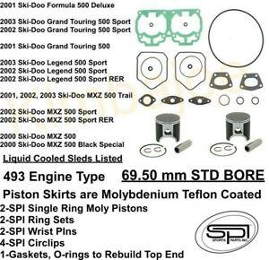/'95 69.50MM Piston Ring Set SKI-DOO GRANDING TOURING 470-436cc