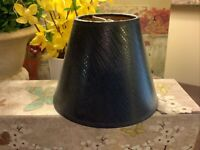 """Clip On Shade~4""""H~Black Croc Textured Pattern~Paper/Gold Foil~FREE SHIPPING~NICE"""