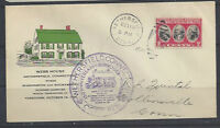#703 FDC addressed with color Webb House cachet, Wethersfield, CT writing bottom