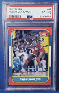 1986 Fleer Basketball AKEEM OLAJUWON #82 PSA 6 Rockets (Xplor_Sports)