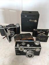 4 Antique Vintage Camera Cameras Foldex Kodak Hawkeye Autograph Argus Cintar