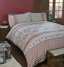 Art Moroccan King Size Quilt Duvet Cover and 2 Pillowcase Bedding Linen Set Pol