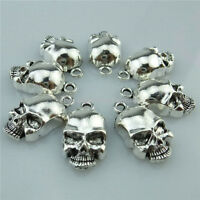 14198 30PCS Antique Silver Alloy Ghost Skull Skeleton Pendant Charm Nice Jewelry