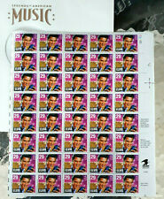 1998 Elvis Presley 40 Stamp Sheet inside Record Sleeve 29 cent Scott 2721