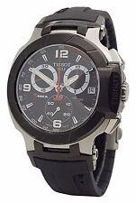 Tissot Mens T-Race  T048.417.27.057.00 Black Rubber Band Chronograph Date Watch