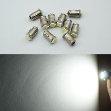10x 6V Ba7s LLB282 1 LED DASHBOARD WARNING SWITCH BULB White Negative Earth
