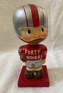 VINTAGE 1960s AFL NFL SAN FRANCISCO 49ERS FOOTBALL BOBBLEHEAD NODDER BOBBLE