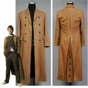 Doctor Who Dr. Brown Cosplay Costume Outfit Long Trench Suit Coat