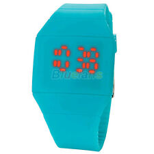 Waterproof Mens Womens Digital  LED Touch Sports Silicone Bracelet Wrist Watch