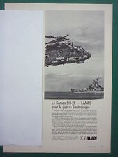 11/1974 PUB KAMAN HELICOPTER SH-2F LAMPS SEASPRITE ELECTRONIC WARFARE FRENCH AD
