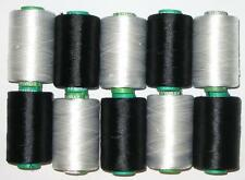 NEW BLACK & WHITE RAYON Embroidery Thread THREADS FOR Brother Machine