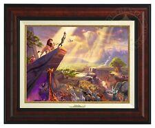 Thomas Kinkade Disney Lion King 12 x 16 Canvas Classic (Burl Frame)