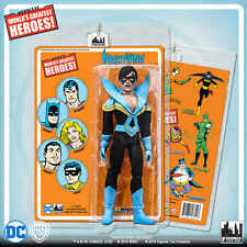 Official DC Comics Nightwing 8 inch Action Figure on Mego Style Retro Card
