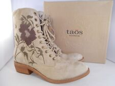 Taos Artisan Embroidered Leather Boots ART-10593 Womens Size 8-8.5 US New In Box