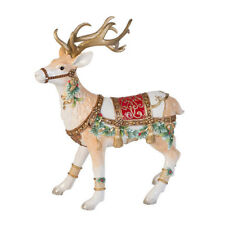 "Fitz & Floyd Yuletide Deer Figurine 17.25""  Holiday Christmas Decor"