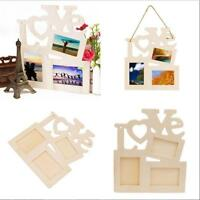 Creative Sweet Wooden Hollow Love Photo Picture Frame Home Decor Art DIY Gift