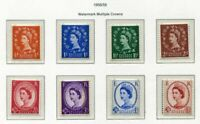 S2510) UK Great Britain 1958/59 MNH Definitives 8v Graphite Lined Issue
