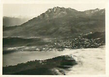 Mount Pilatus Lucerne Switzerland Schweiz Suisse Zeppelin Airship CARD IMAGE 30s