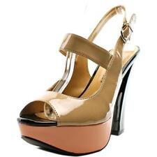 Sandalias y chanclas de mujer de tacón alto (más que 7,5 cm) de color principal crema Talla 37.5