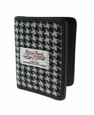 authentic harris tweed kreditkartenetui schwarz/weiß mit hahnentrittmuster lb2006 col 29