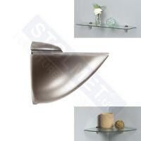 2pcs Satin Support forUPto 40mm Thick Glass Wood Acrylic Shelves Chrome AllSizes