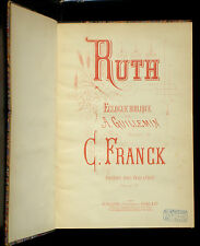 Partition / Score César Franck Ruth piano & chant TBE