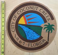 CITY OF COCONUT CREEK FL  COP CAR DOOR DECAL SHIELD FLORIDA POLICE