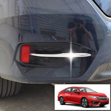 For Honda Civic 16 2017 2018 Chrome Rear Fog Light Lamp Bumper Trim Cover Bezel