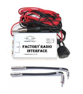 RCA Auxillary Audio Input Wired FM Modulator Car Radio + Antenna Adapter GM6 GM7