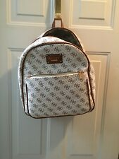 GUESS FAUX LEATHER BACKPACK WHITE