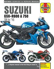 Haynes Manual for Suzuki GSX-R600 & 750 (2006 - 2016) owners workshop (HM4790)