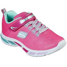 Girl Youth Skechers S Lights Light up Shoes Neon Pink Litebeams Shimmer Size 4
