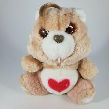 "FLAWED Vintage Care Bears Tenderheart Bear 6"" Plush Kenner 1983 Stuffed Heart"