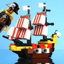 B3 Custom LEGO Mini Black Seas Barracuda with Official LEGO Brickbeard Minifig