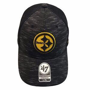 Pittsburgh Steelers '47 NFL Contender Black Hole Tonal L/XL Flexfit Cap Hat $32