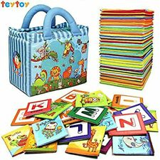 Baby Toy Zoo Series 26pcs Soft Alphabet Cards With Cloth Bag For Over 0 Years