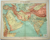 Western Asia - Original 1915 Map by Kartographia Winterthur S.A. Antique