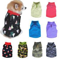 Warm Dog Clothes Soft Fleece Dog Vest Winter Puppy Coat Jacket Pet&Cat Clothes