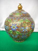 1920-30's Chinese Cloisonne Ginger Jar Enameled