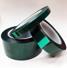 "Powder Coating Masking Tape Lined Green Polyester 16"" X 36 Yds 2 Mil - 400F"